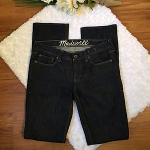 Madewell Rail Straight Jeans 28x34 Dark Wash